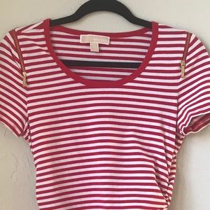 Michael Kors red and white striped tee